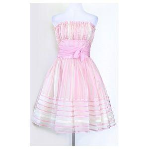 BETSEY JOHNSON Striped Cupcake Dress 0